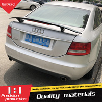 For Audi A6 Spoiler 2006 2013 For Audi A6 TF Spoiler ABS Material Car Rear Wing Primer Color Rear Spoiler