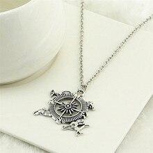 Game Of Thrones Targaryen Dragon Compass Pendant Necklace