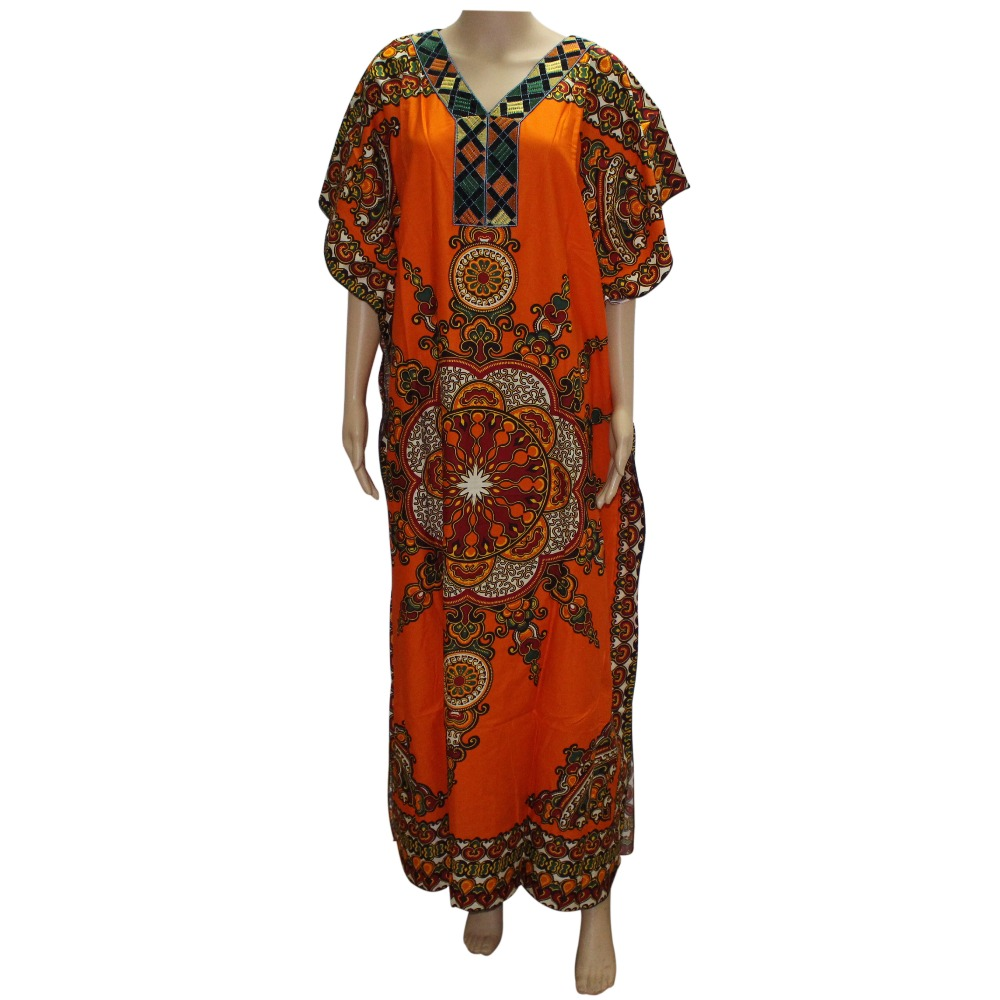 African Traditional Print Dashiki Dress Plus Size New