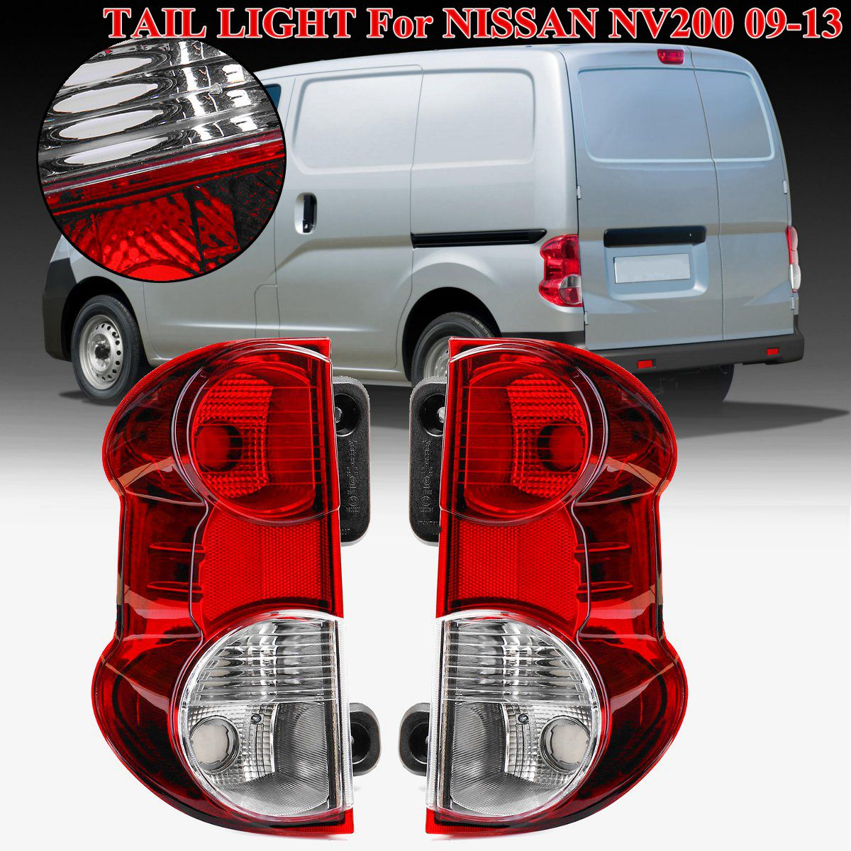 For NISSAN NV200 Tail Light Rear brake light Rear warning lamp 26550-JX00A 26555-JX31A 1Pair Red Rear Tail Light Brake Lamp rear outer brake light tail light lamp left lh for mitsubishi outlander ex 07 13 8330a395