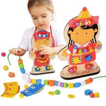 Zalami למידה חינוך פאזל עץ צעצועי בובות חרוזים מונטסורי Oyuncak לילדים