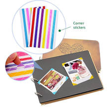 10 Copriletto = 1020 pz Instax Mini Alta fatto A mano Materiale Album Decor Sticker Retro della Foto del Pvc Angolo(China)