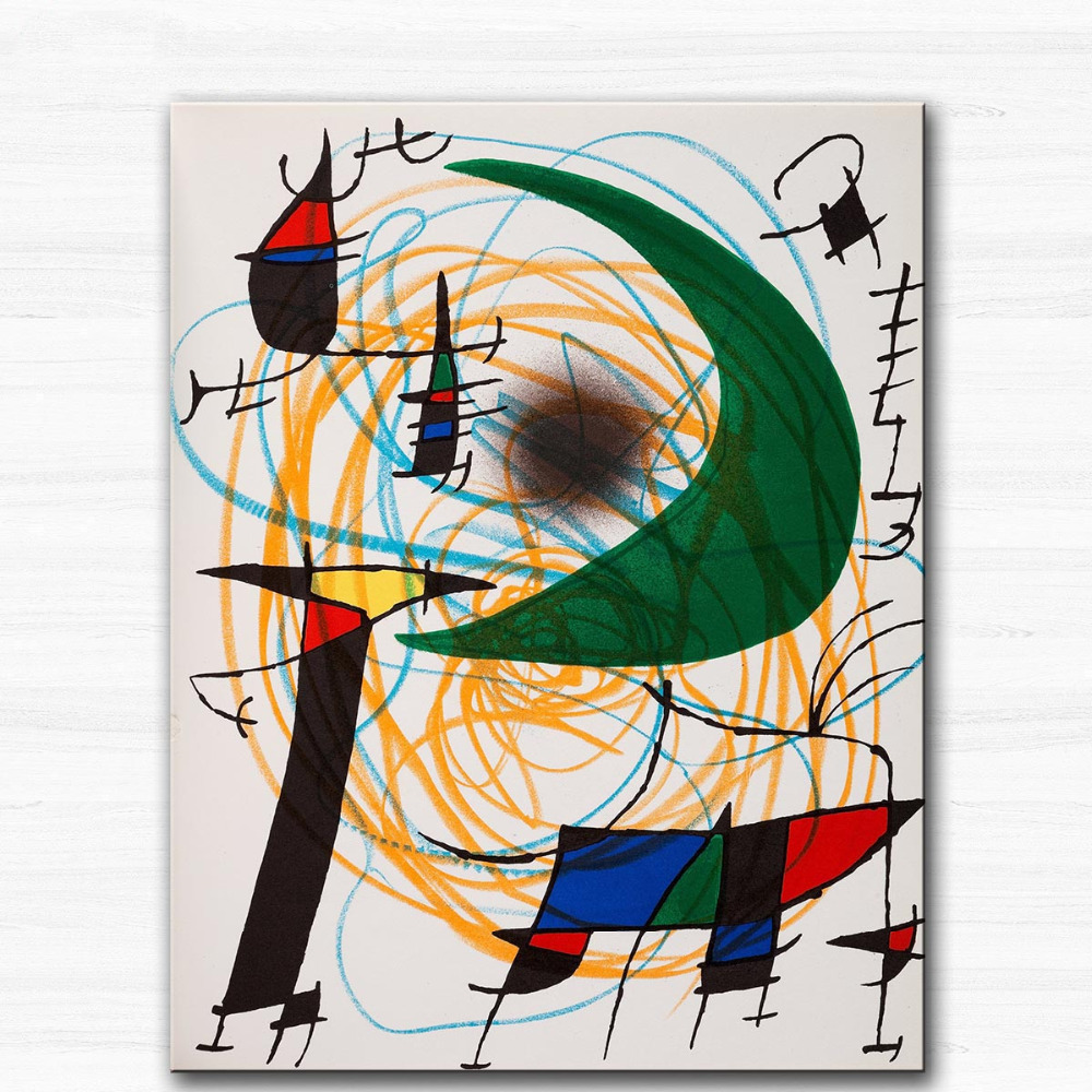 Huge Printing Oil Painting Wall painting Lithographs Volumes I by Joan Miro Wall Art Picture For Living Room painting no frame