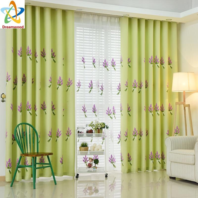 Dreamwood Quality Luxury Modern Window curtains Vyšívané levandule - Bytový textil
