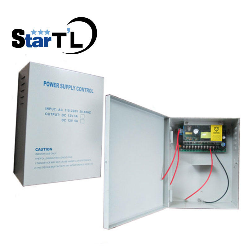DC12V5A Access Door Loock Battery Function Switch Power Supply AC110~260V Access Control Power Supply Support Back-up