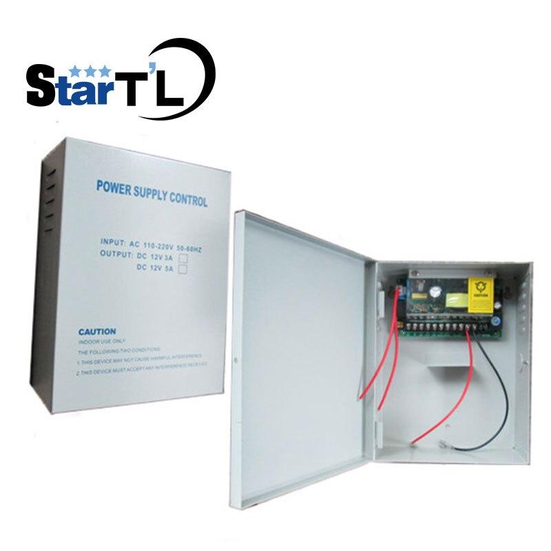 DC12V5A Porte D'accès Loock batterie fonction Interrupteur D'alimentation AC110 ~ 260 v Contrôle D'accès Alimentation Support pour le Dos- up