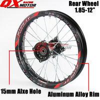 1.85x12 inch Pit Bike Rear Wheels For KAYO BSE Apollo Xmotos CRF50 CRF70 KLX110 TTR110 125 140 160cc Dirt Bike MX Spare Parts