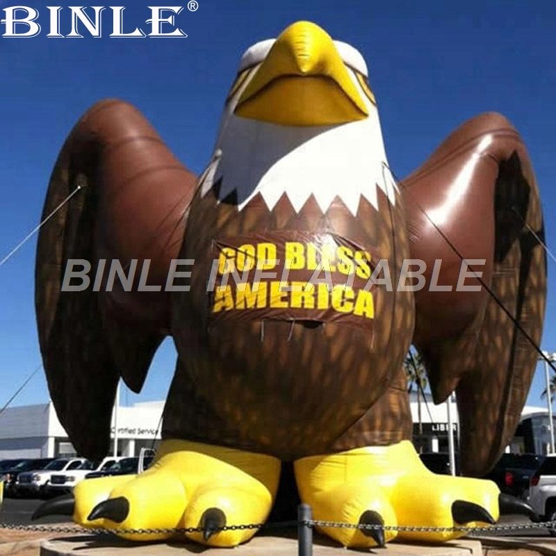 Professional Factory Advertising Giant Inflatable Eagle Model Inflatable Animal Cartoon Mascot Balloon For Advertising
