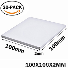 20Pcs Gdstime 100X100x2MM White CPU GPU Thermal Pad Heatsink Cooling Conductive Silicone Pad