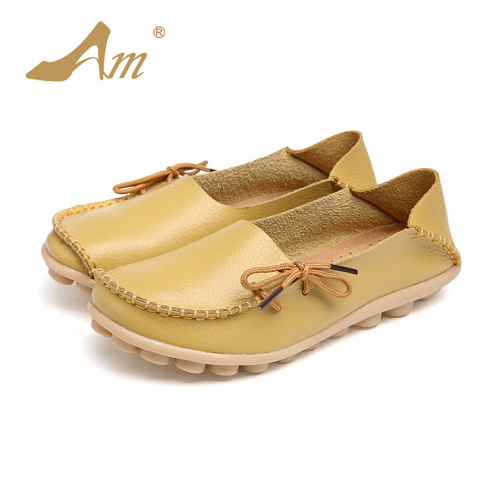 AME Women Real Leather Shoes Moccasins Mother Soft Leisure Flats Female Driving Casual Footwear Size 35-44 in 23 Colors corporate real estate management in tanzania