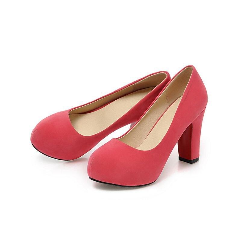 71ccc32e Zapatos Mujer Tacon 2017 limitados Zapatos talla grande 34 43 color nuevo  primavera otoño mujeres Zapatos de tacón alto Pu A35 1 en Bombas de las  mujeres de ...