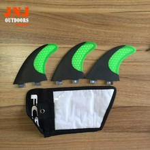 GREEN standard surfboard fins FCS M G5 fins surf table fins with fcs original bag