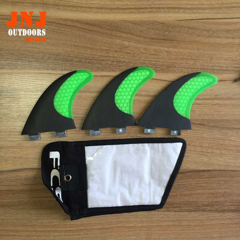ФОТО GREEN standard surfboard fins FCS M G5 fins surf table fins with fcs original bag