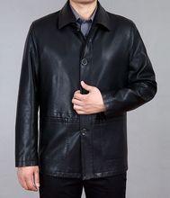 Free shipping ! 2016 Popular Brand Menswear High-grade Men Jackets Leather Coat / M-XXXXL Jaqueta De Couro Veste Cuir Homme