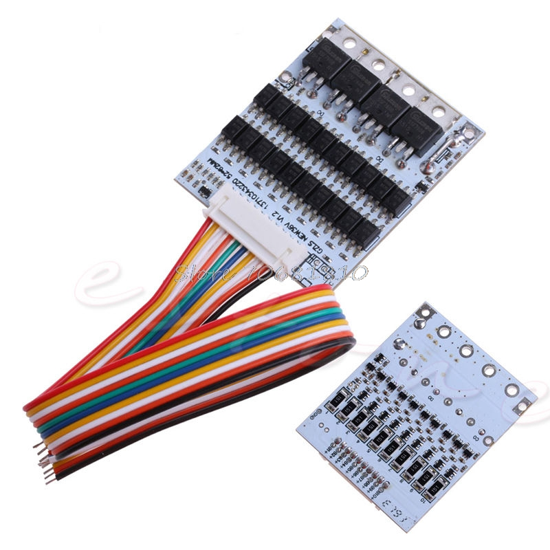 10S 36V Li ion Lithium Cell 40A 18650 Battery Protection BMS PCB Board Balance-in Battery Packs from Consumer Electronics