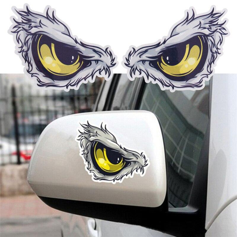 3D Eyes Car Mirror Stickers Truck Window Decal Reflective Sticker Decals Gift M/&