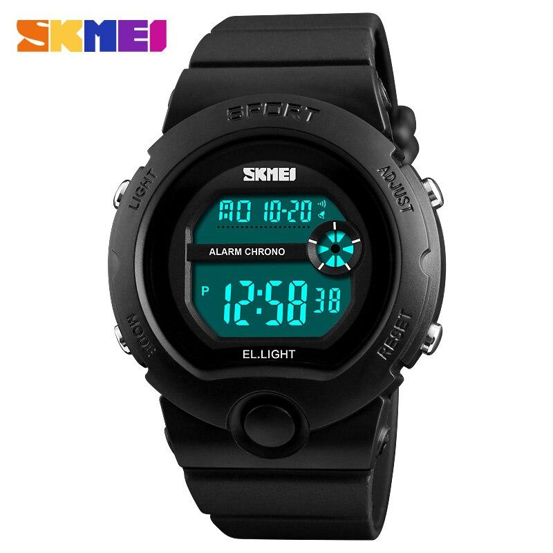 Children Watch Outdoor Sports Kids Boy Girls LED Digital Alarm Stopwatch Waterproof Wristwatch Children's Dress Watches 2018 New