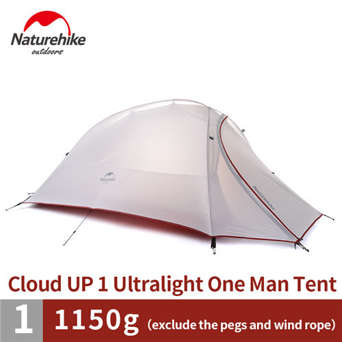 naturehike cloudup series ultralight hiking tent 20d210t fabric for 1 person with mat nh15t001t