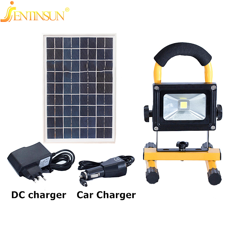 New Design 5W Solar Power Panel Light Portable Lamp Outdoor Waterproof Rechargeable LED Portable Spotlight For Garden Camping