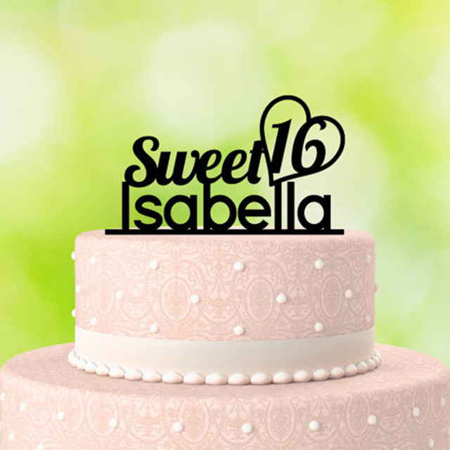 Baby Shower Birthday Party Decoration Kids Casamento Personalized Cake Toppers FavorCustom Name