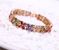 CZ Bracelet for Women Multi Color Prong Setting Zircon Best Gift for Anniversary