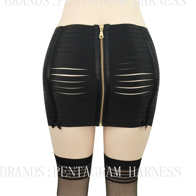 2017 Hot Women New Lingerie Boody Bondage Harness BDSN Bondage Cage Skirt Exotic Lingerie Fetish Goth Punk garter