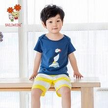 BAILIWEINI2019 Boys and Girls Suits Medium Small Kids Short Sleeve Baby Suit Shorts
