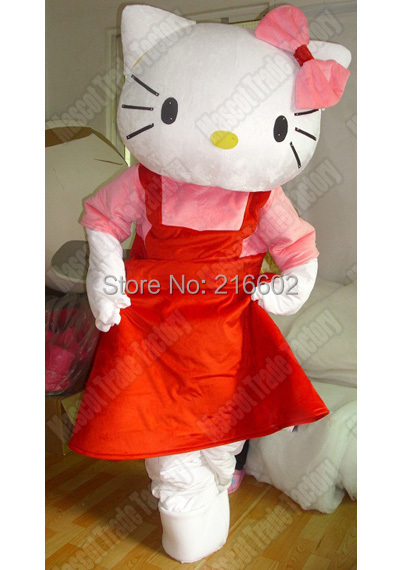 Popular sale Hello Kitty Mascot Costume for adults Halloween party event
