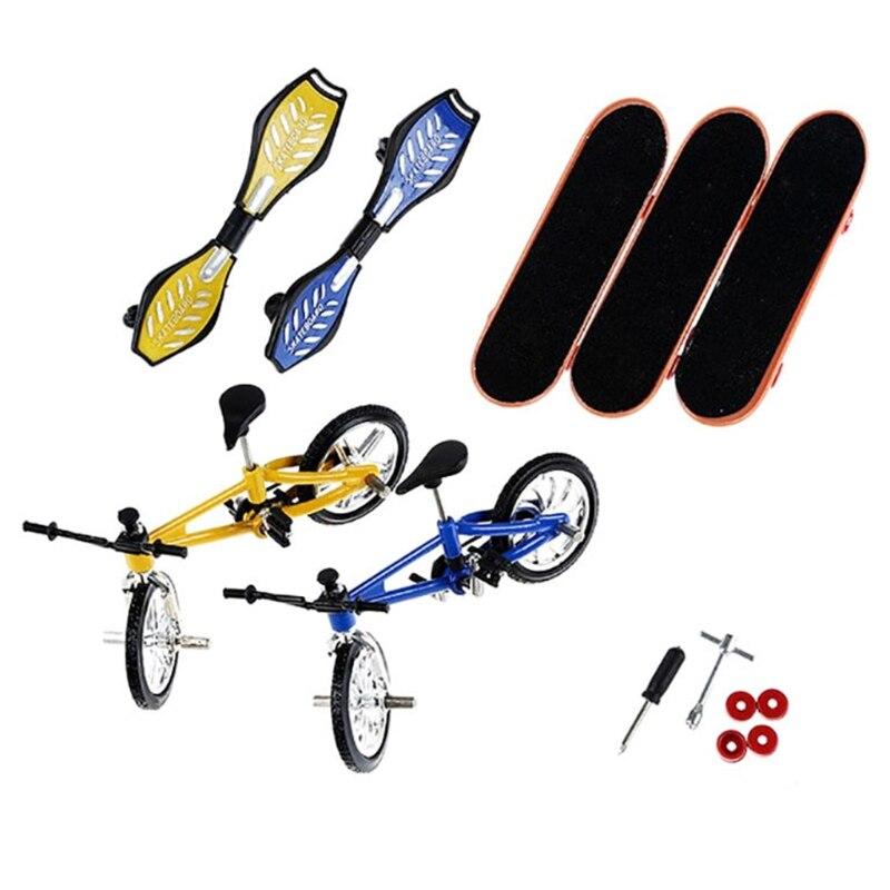 8 шт./компл. пальцевый велосипед и скейтборд дети колеса игрушки