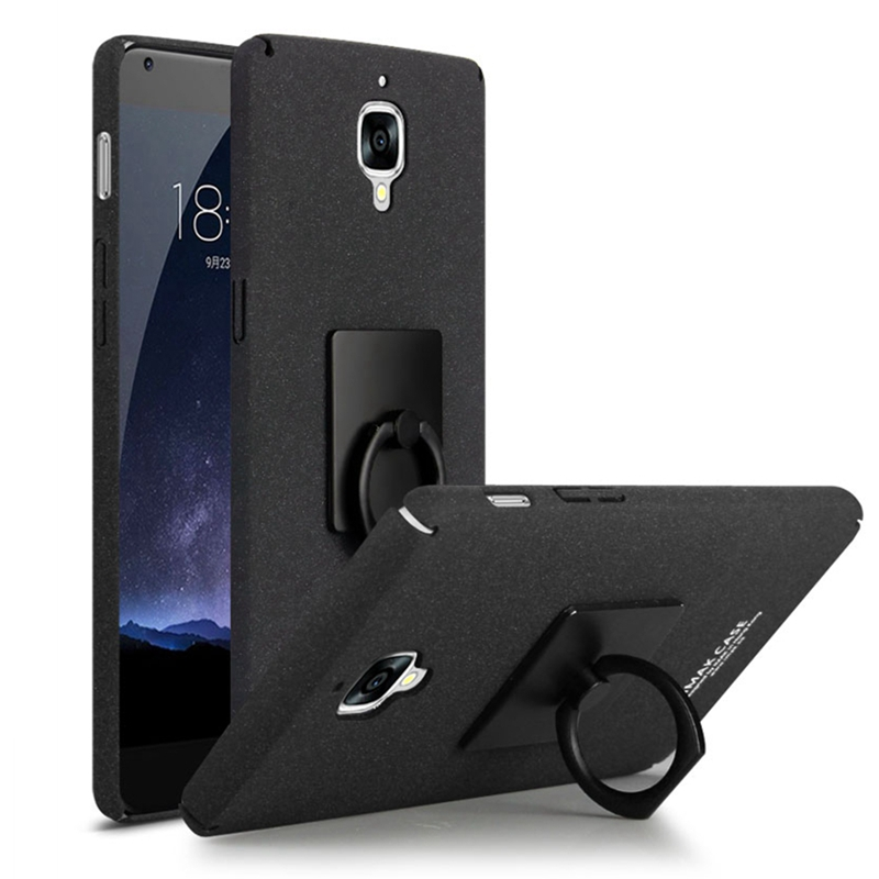 Oneplus 3T case IMAK Frosted Shield Hard Back Cover Oneplus 5 1+5 Case Quicksand Cowboy KickStand Case Oneplus 3 A3000 With Ring