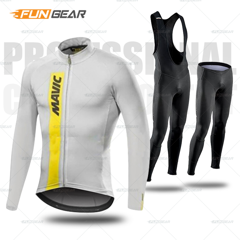 Cycling Clothing Spring Autumn Jersey Kits Mens Long Sleeve Clothes Set Pro Team MTB Maillot Ropa Ciclismo Bicycle Bib Pants Set in Cycling Sets from Sports Entertainment