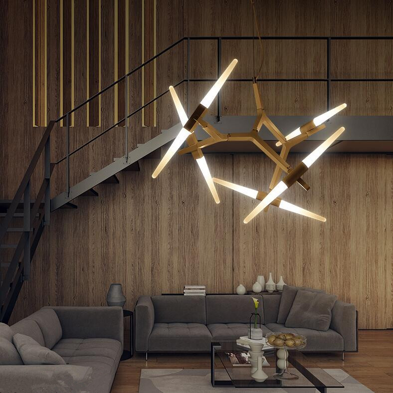 Aliexpress Buy Creative Branch Arts Pendant Light Lamp Modern Italian Design Personality Living Room Restaurant Lamps Fixtures From Reliable