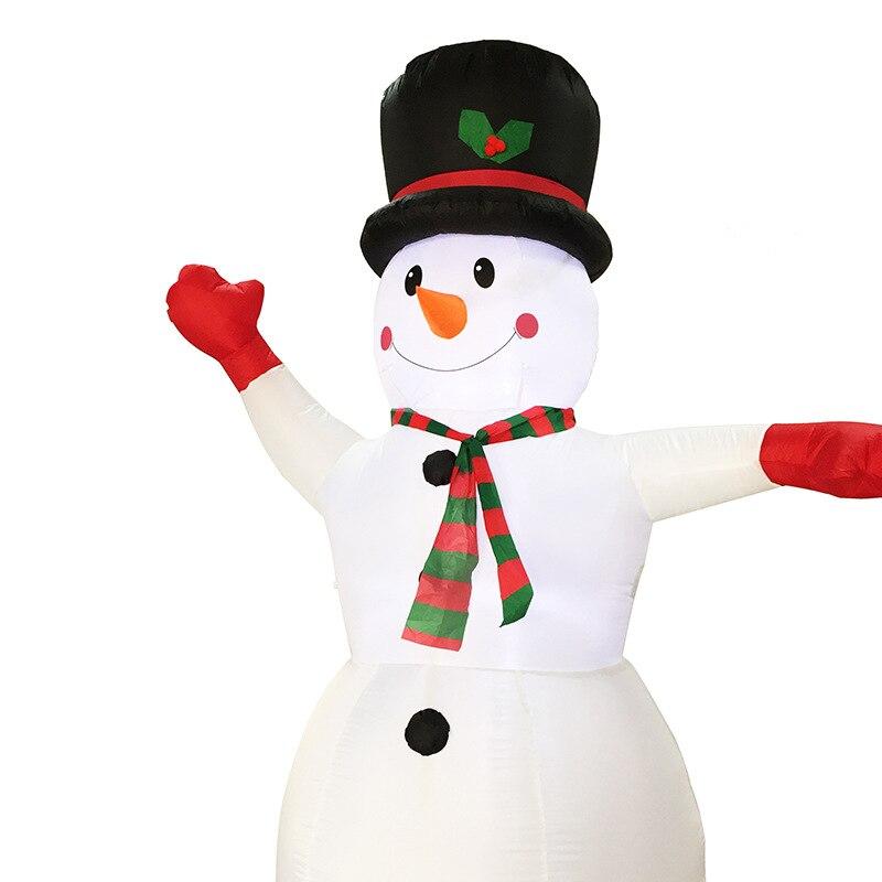 2,4 м Гигантские Надувные Снеговик Blow Up Игрушка Санта Клаус Новогоднее украшение для Отели ужин Рынок развлекательные центры праздник - 3
