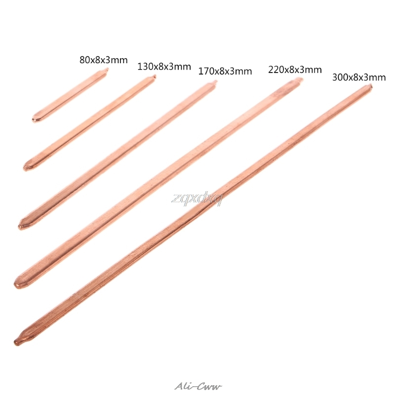 Pure Copper Tube Tubing For Computer Laptop Cooling Notebook Heat Pipe Flat Or Round 80/130/170/220/300mm Optional