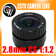 3MP 2.8mm CS lens suitable for both 1/2.5″ and 1/3″ CMOS chipsets for ip cameras and security cameras