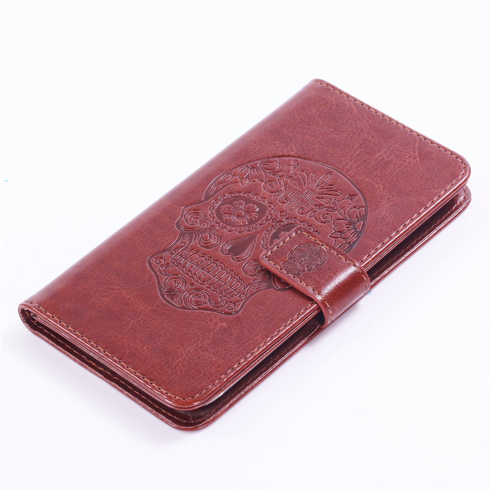 GUCOON Embossed Skull Wolf Case for OPPO A75 6.0inch Vintage Protective Phone Shell Fashion Cool Cover Bag