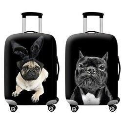 Acessórios de viagem capa de bagagem conjunto de proteção de bagagem capa de poeira tronco conjunto caso do trole elasticidade bulldog padrão