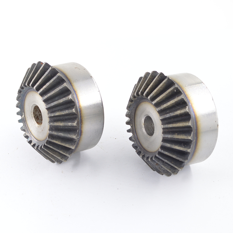 2 x 2M-20T Metal Umbrella Tooth Bevel Gear Helical Motor Gear 20 Tooth 12mm Bore