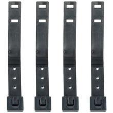 4 pçs curto tático molle sistema 3 Polegada malícia clipes cinta universal para kydex coldre faca bainha molle acessório preto