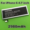 2980 mah batería de repuesto para apple iphone 6 6g para apple 6 batería del teléfono iphone6 4.7 pulgadas