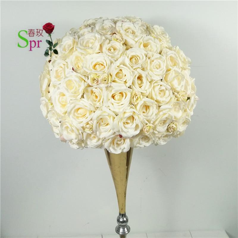 Spr 웨딩 테이블 센터 꽃 공 도로 리드 인공 flore 센터 피스 웨딩 배경 꽃 장식-에서인공 & 건조 꽃부터 홈 & 가든 의  그룹 1