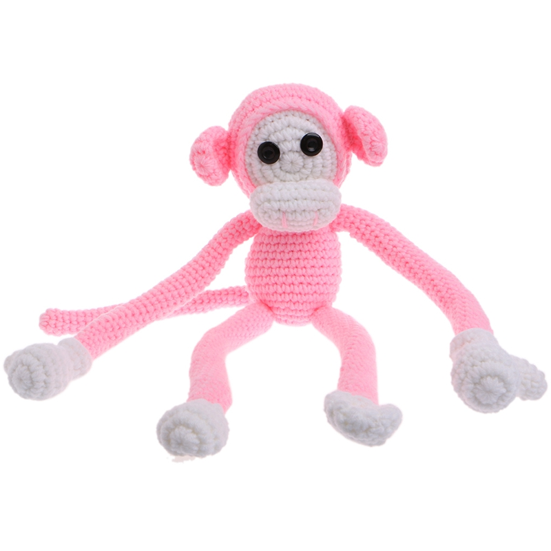 Newborn Baby Girls Boys Monkey Photography Prop Photo Crochet Knit Toy Cute Gift-P101 cute newborn baby girls boys crochet knit costume photo photography prop outfit one size baby bodysuit hat 2pcs