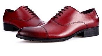 Large size EUR45 Fashion 5 color formal oxfords shoes mens dress shoes genuine leather oxfords business shoes mens wedding shoes Formal Shoes