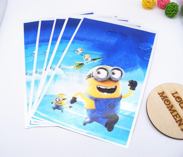 10 X Minions Gift Bag Children Birthday Party Gifts Favor Accessories