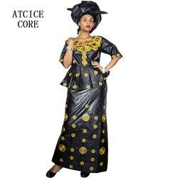 الأفريقي فساتين للنساء 100% القطن جديد الأفريقي الأزياء ديسني BAIZN الثراء التطريز تصميم اللباس الأفريقي الملابس DP193 #