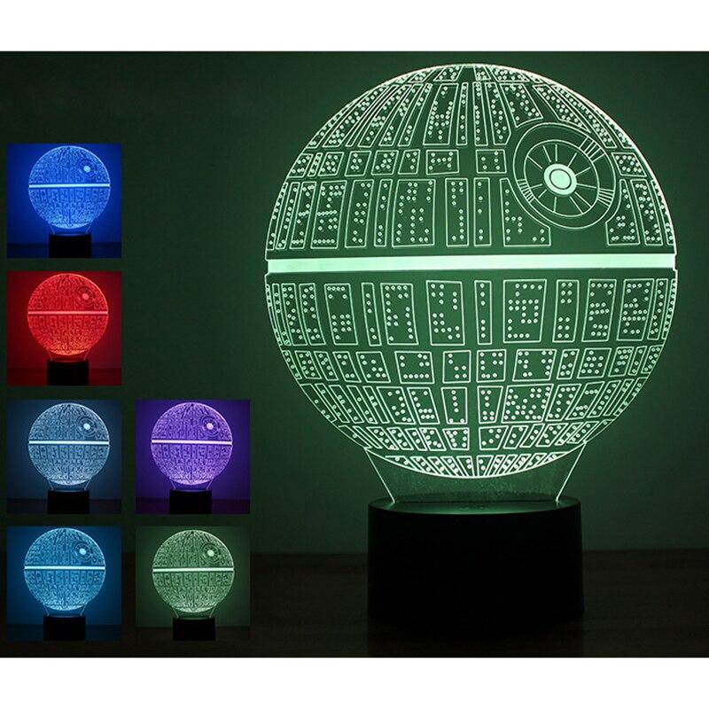3D Novelty Light lampada led Death Star Table Lamp 3D Bulbing Light Alien Lava Lamp Trek Star Wars night light baby Kids Gif