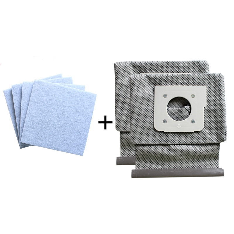 4*motor Cotton Filter +2*Washable LG Vacuum Cleaner Bags Dust Bag Replace for LG V-743RH V-2800RH V-2800RB V-2800RY V-2810 Parts lg v c7920htr