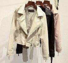 2017 New Autumn Fashion Street Women's Short Washed PU Leather Jacket Zipper Colors New Ladies Basic Jackets Good Quality