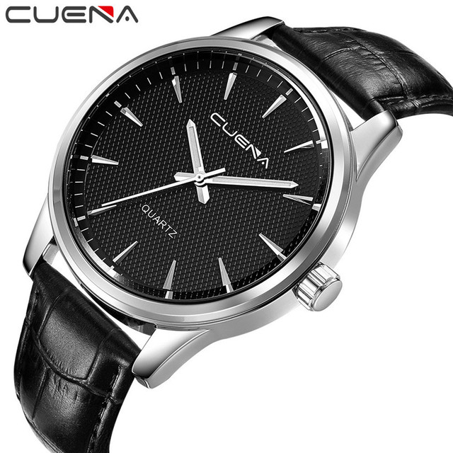 Fashion Men Casual Checkers Faux Leather Quartz Analog Wrist Watch Relojes Hombre 2017 Relogios Masculino July10 by Cuena