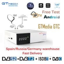 Freesat GTC рецепторов DVB-S2 DVB-C DVB-T2 Amlogic S905D android 6,0 ТВ BOX 2 Гб 16 GB + 1 год cccam спутниковый ТВ телевизор